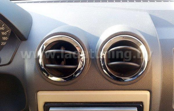 Кольца накладки на дефлекторы НЕРЖ для LADA Largus (Ларгус), RENAULT Duster, Logan, Sandero (Дастер, Логан, Сандеро)