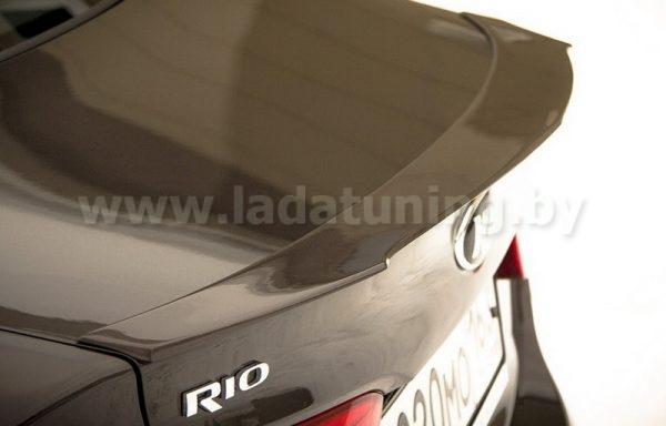Спойлер-лип на крышку багажника для KIA Rio Sedan (Киа Рио Седан) с 2011 г.в.