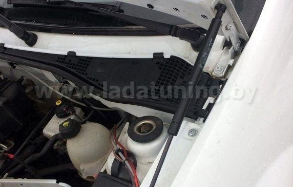Амортизаторы (упоры) капота для Renault Logan (Рено Логан) до 2015 г.в. Lada Largus (Лада Ларгус) c 2012 г.в.